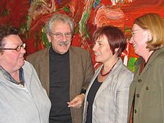 Mit Caren Marks und anderen im Landtag