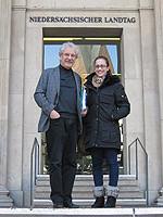 Heinrich Aller MdL und Jasmina Stosic