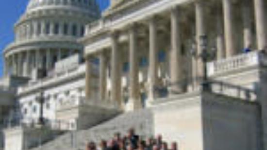 Gruppenfoto vor dem Capitol