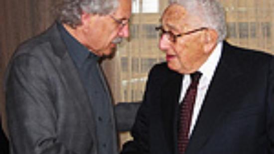 Heinrich Aller MdL und Henry Kissinger